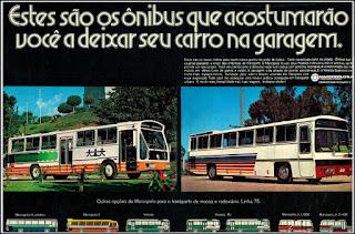 propaganda ônibus Marco Polo - 1974, carrocerias Marco Polo, Marco polo anos 70, ônibus década de 70, Oswaldo Hernandez,