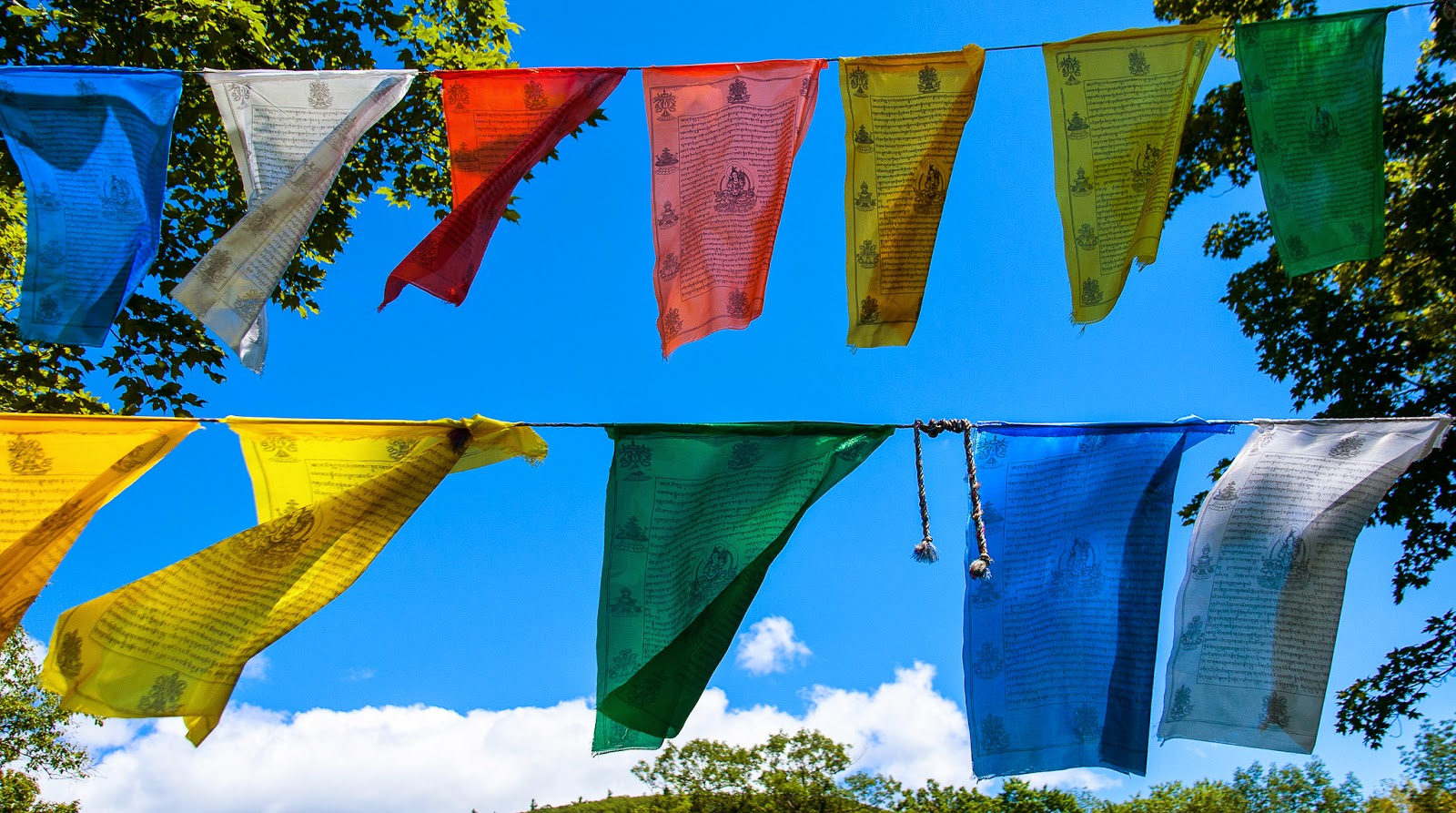 prayer flags, himalayan monastery