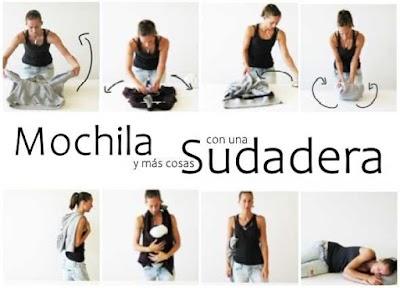 Transformar una Sudadera con Capucha en Mochila
