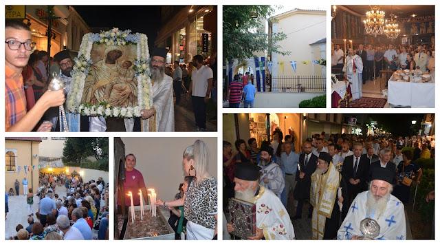Πρέβεζα: Πλήθος πιστών στον πανηγυρικό εσπερινό της Παναγίας, παραμονή δεκαπενταύγουστου