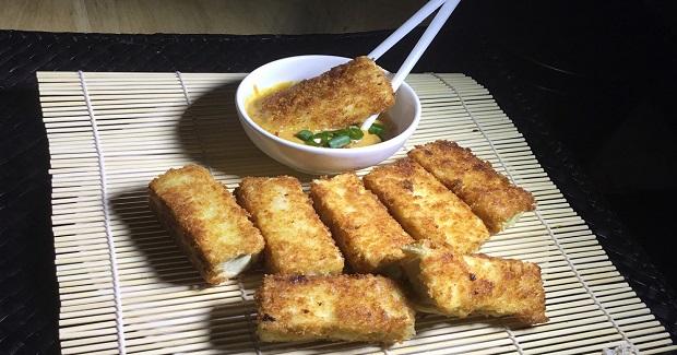 Breaded Tofu With Thai Peanut Sauce Recipe