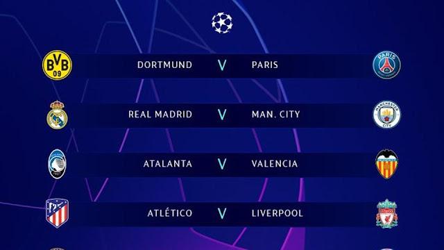 نتيجة قرعة دور الـ 16 من دوري أبطال أوروبا