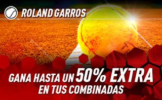 sportium promo Combinadas Roland Garros 2019
