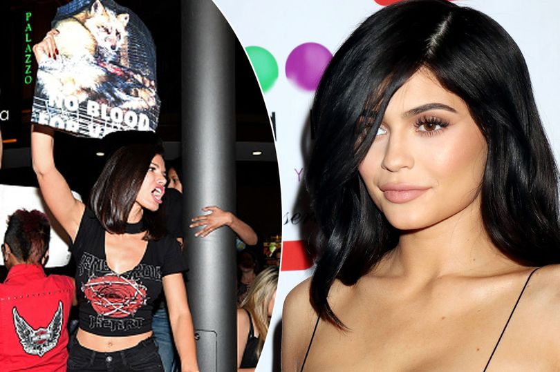 Kylie Jenner walks out of photo shoot as protesters jeer at her