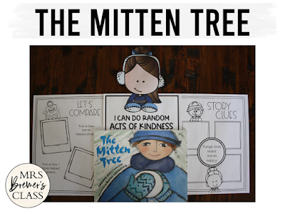 The Mitten Tree book study winter literacy unit with Common Core aligned companion activities and a craftivity for K-1