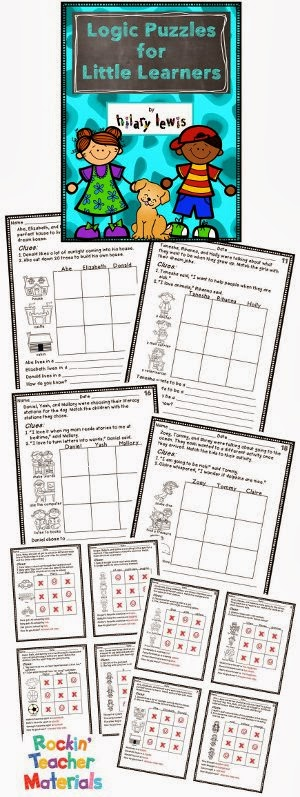 Rockin' Teacher Materials: Logic Puzzles for Little Learners