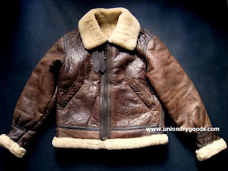 39ccb2518 Vintage B3 Leather Bomber Jacket by Fedeless Military Inc. | Union ...
