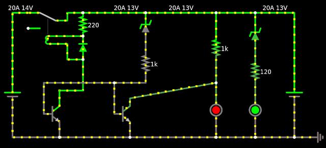 bateria descarregada e o LED vermelho aceso