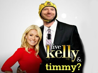 LIVE's Kelly Ripa with Timmy Boyle.  Is Timmy the new Michael?
