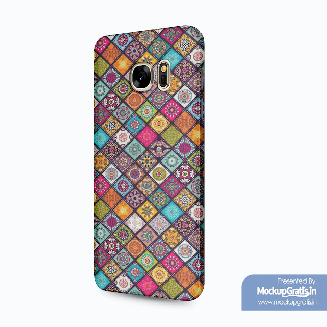 Contoh Mockup Gratis SAMSUNG Galaxy S7 Edge Custom Case 3D