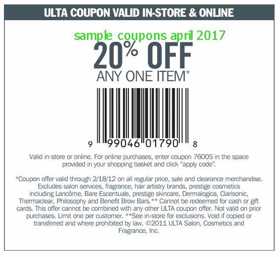 Ulta salon coupons printable 2018