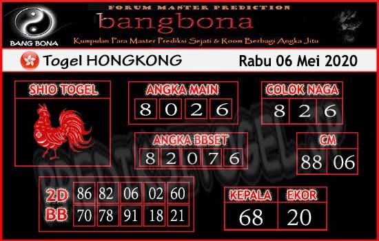 Prediksi HK 06 Mei 2020 - Bang Bona HK
