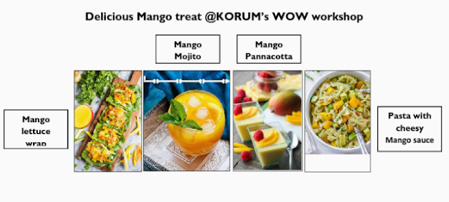 Delicious Mango treat @KORUM's WOW workshop