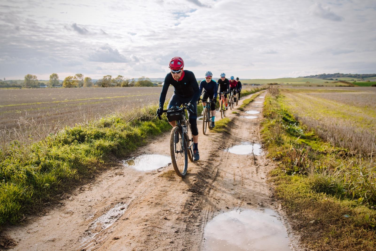 Tim Wiggins Gravel Cycling Arreton Fields Isle of Wight