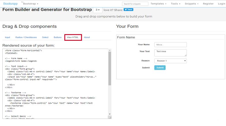 Blogger Form Builder