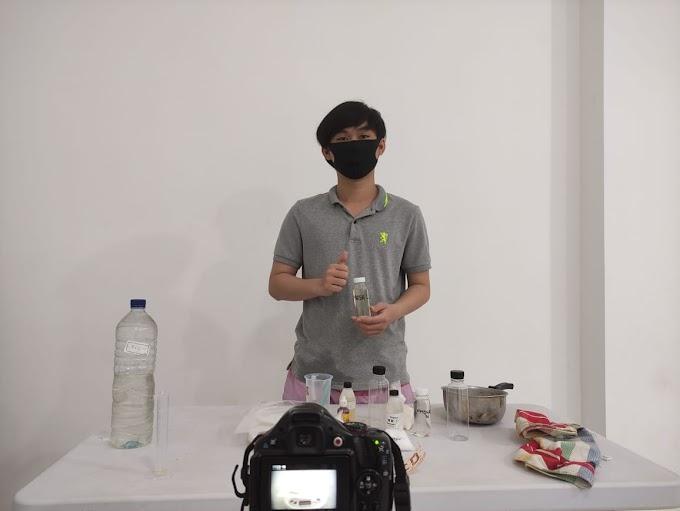 Mahasiswa KKN Undip Sulap Minyak Goreng Bekas Jadi Pembersih Lantai Anti-Kuman