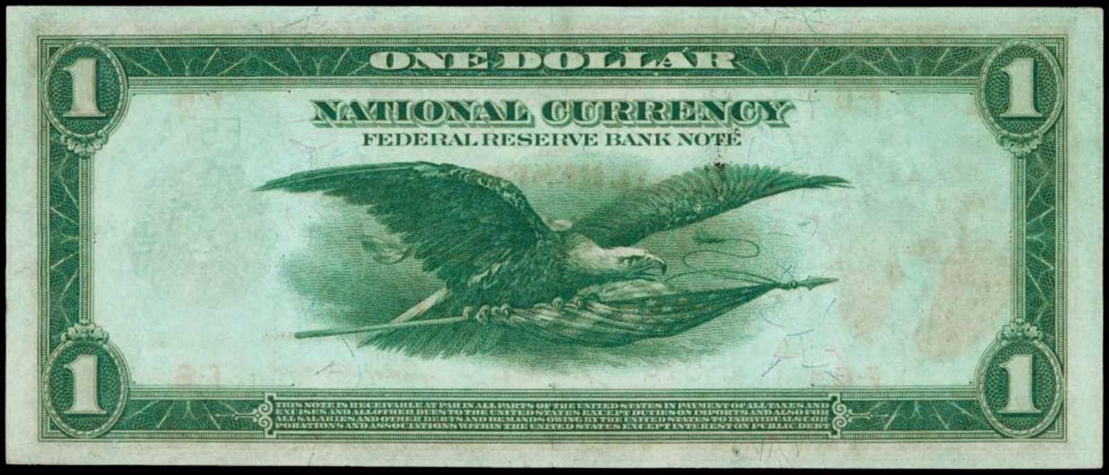One Dollar United States Note Flying Eagle