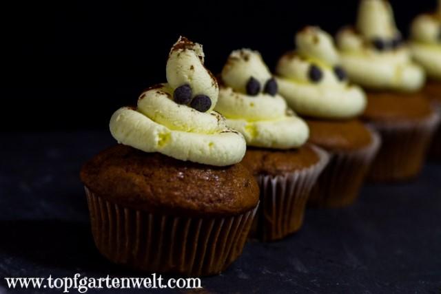 schnelle Geister-Cupcakes für Halloween - Foodblog Topfgartenwelt