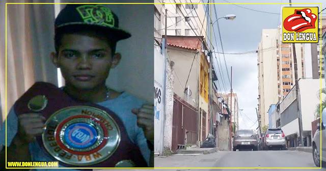 Boxeador fue asesinado a tiros en la Av Panteón de Caracas