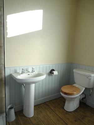 bathroom before mirror