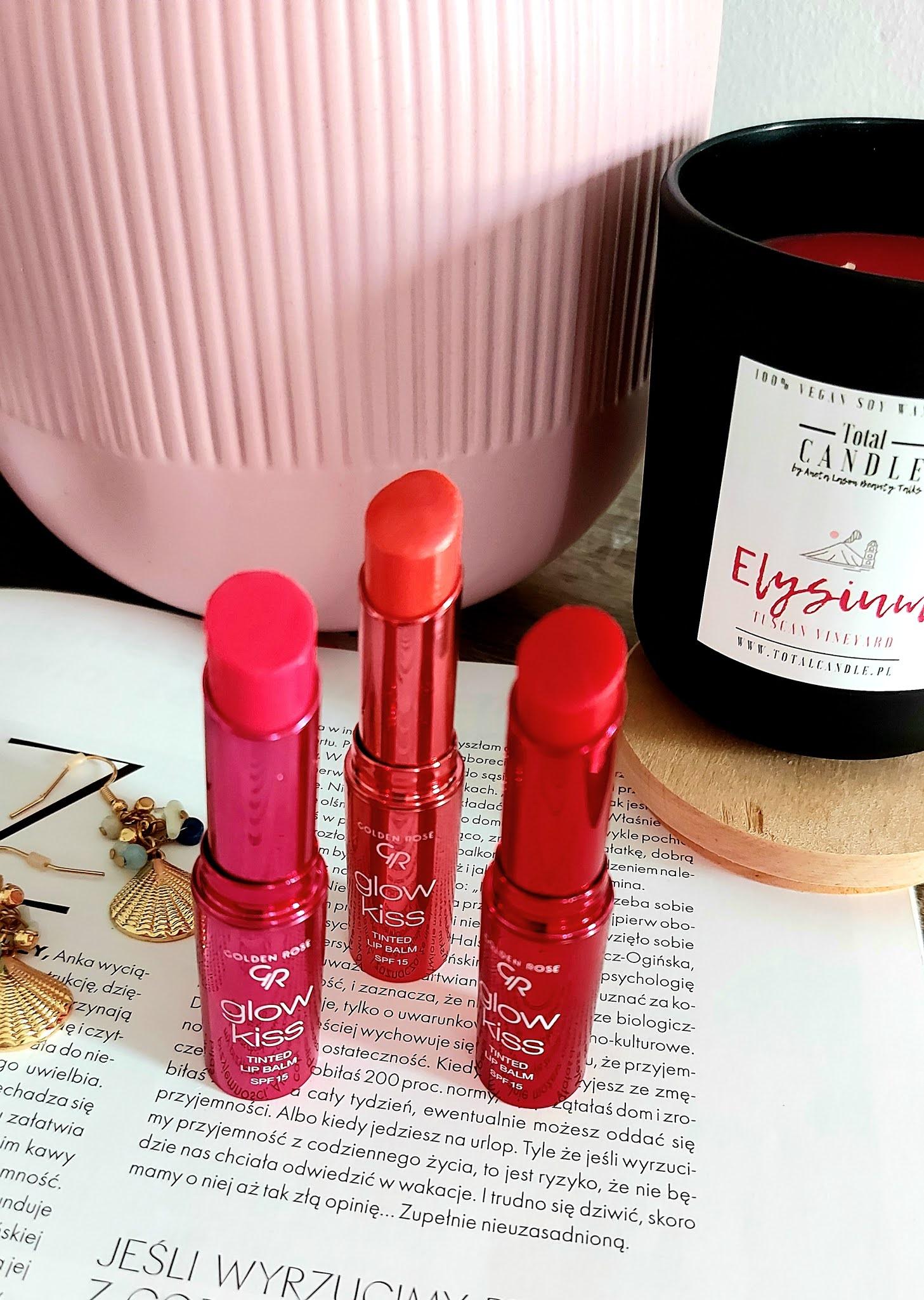 Golden Rose Glow Kiss Tinted Lip Balm - letnie nowości z filtrem spf