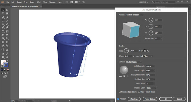 3D Tumbler in Adobe Illustrator