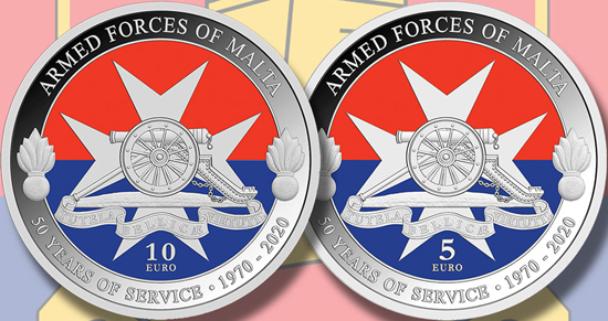 Malta 5 & 10 euro 2020 - Armed Forces