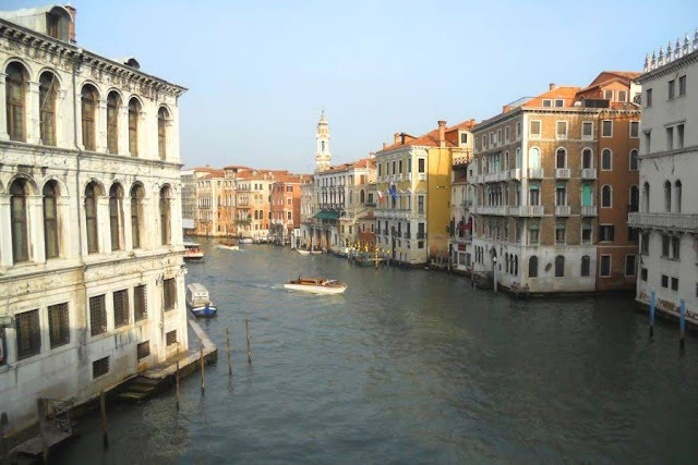 Grand Canal in Venice in Winter