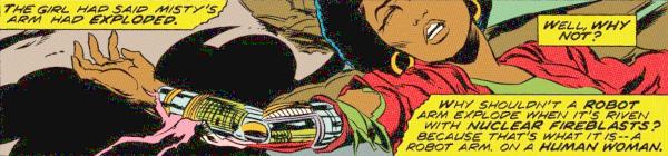 Iron Fist #3, Misty Knight - Bionic Woman