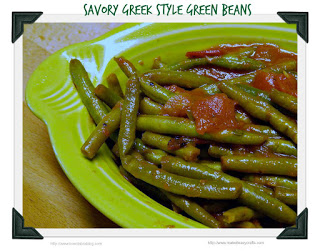 Greeks style green beans