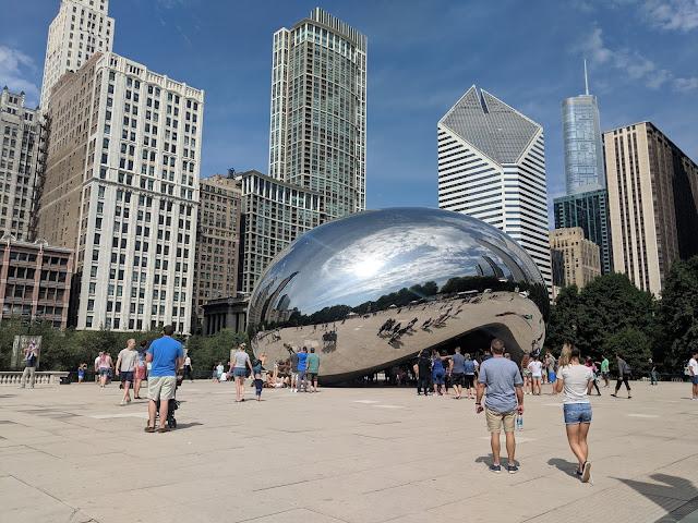 Чикаго. Скульптура Клауд-Гейт  (Облачные Ворота)