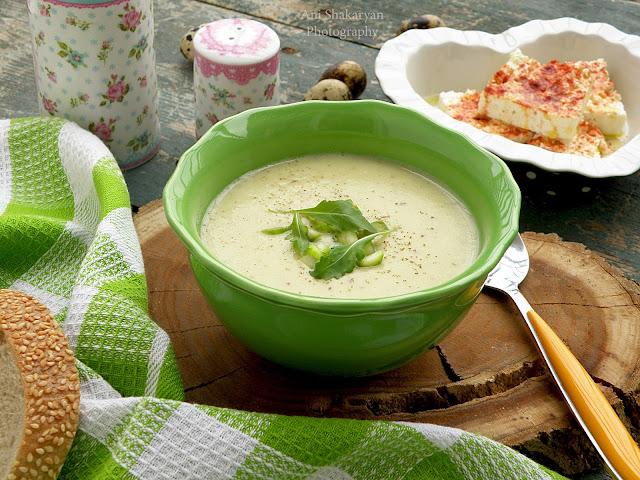 Крем супа от зелени аспержи и картофи