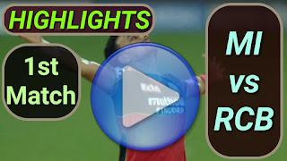 MI vs RCB 1st Match 2021