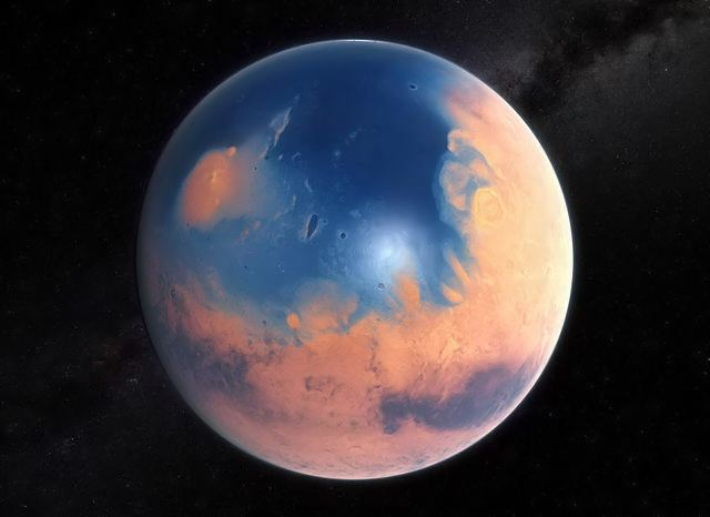 Mars four billion years ago
