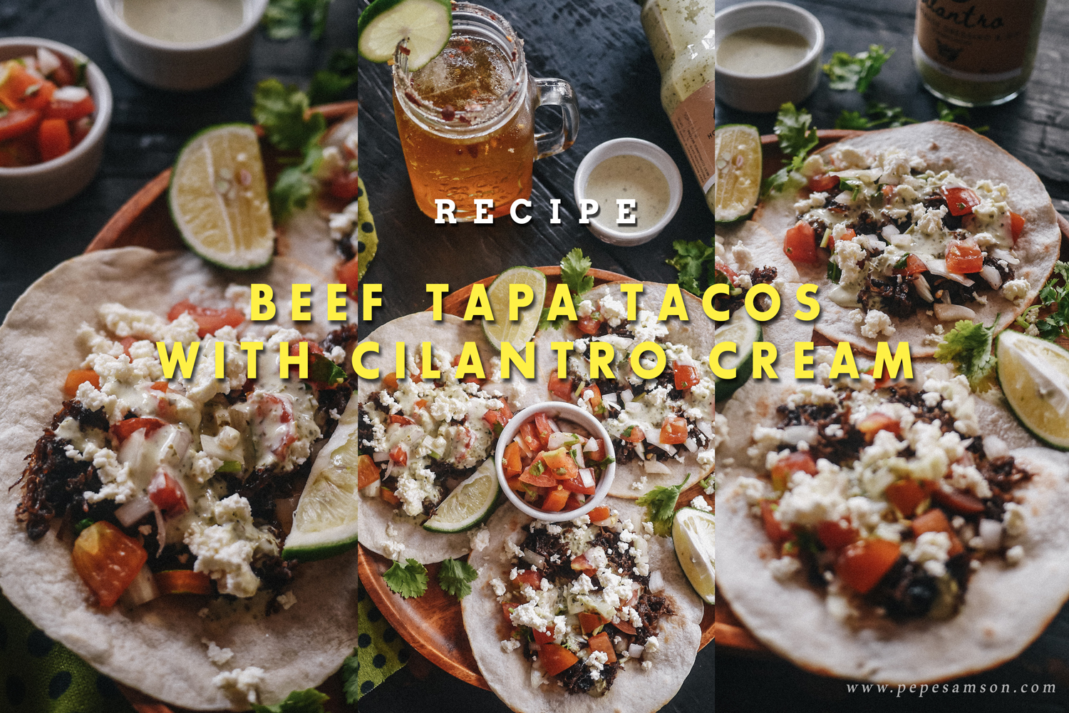 Recipe: Beef Tapa Tacos with Cilantro Cream
