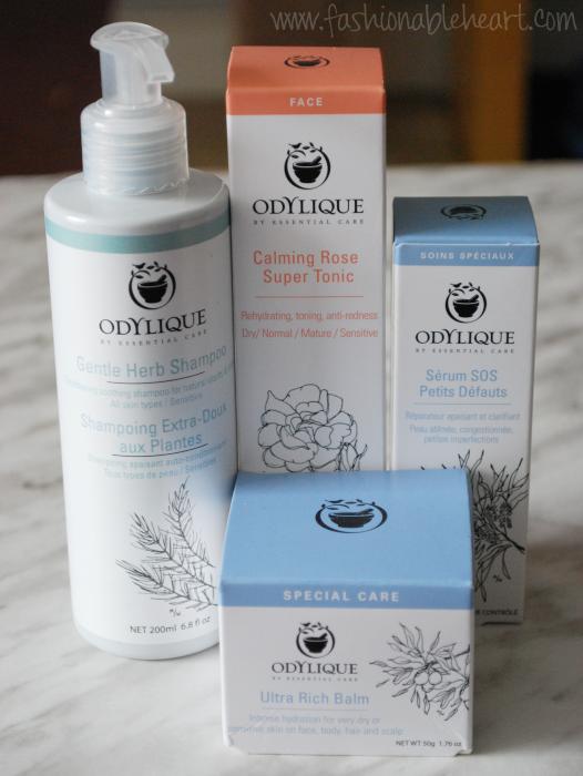 odylique skincare shampoo balm serum tonic