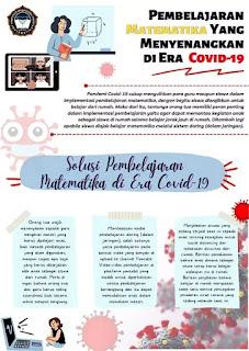 Poster Pembelajaran matematika yang menyenangkan di era covid-19