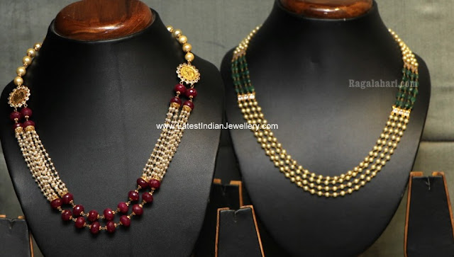 stylish gold beaded necklaces