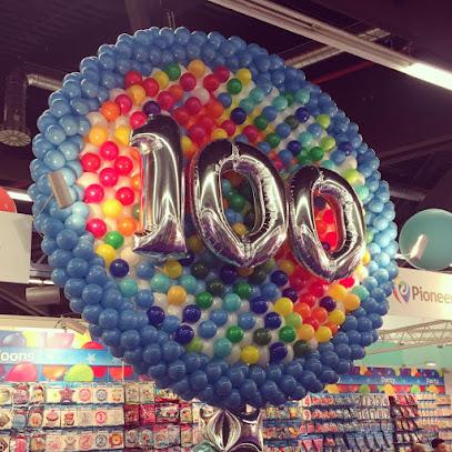 100 Year Celebration Balloon Wall by Luc Bertrand