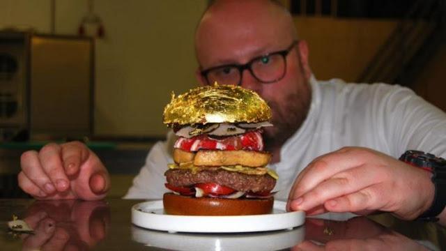 La hamburguesa más cara del mundo: cuesta 2,300 dólares y literalmente está hecha de oro