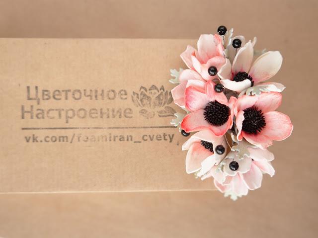 цветочный гребешок для волос