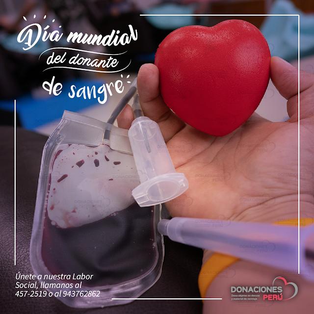 Día mundial del donante de sangre - Donaciones Perú