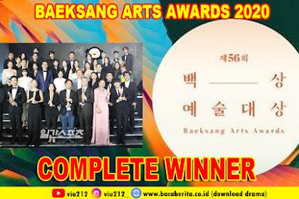 Daftar Lengkap Pemenang Baeksang Arts Awards ke 56th 2020