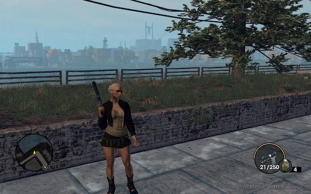 Saints Row: the Third - Хуманша с пистолетом