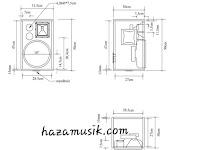 Ukuran box speaker 10inch rumahan