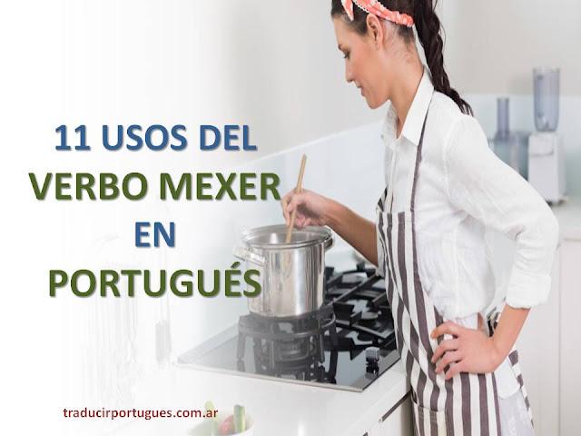 usos del verbo mexer en portugués