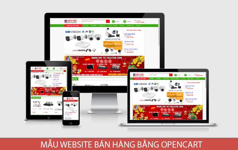 Mẫu website bán hàng máy tính, máy in bằng Opencart
