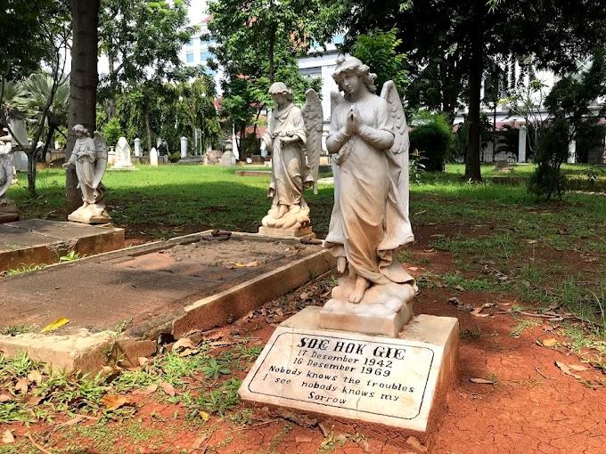 Nisan Tanpa Jasad Soe Hok Gie di Museum Prasasti Jakarta