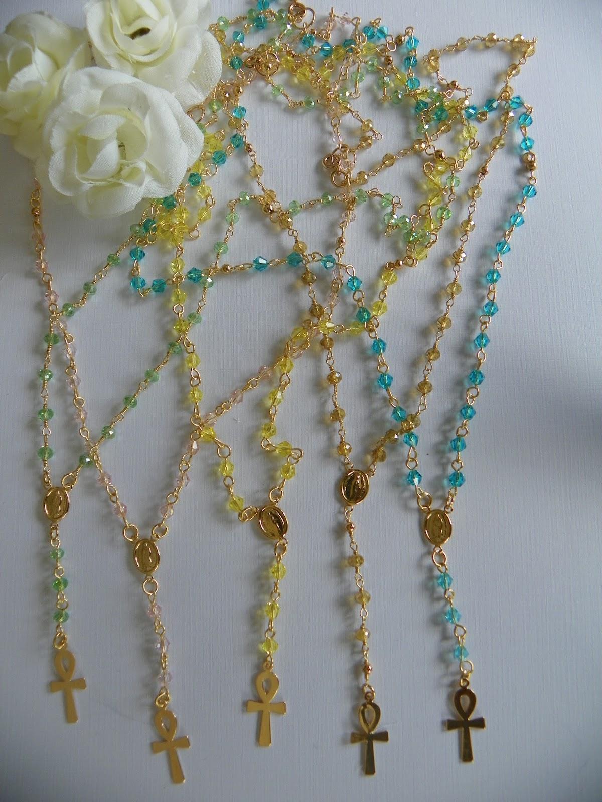 087387419228 Ada Camacho Diseños  Delicados rosarios hechos a mano con cristales ...