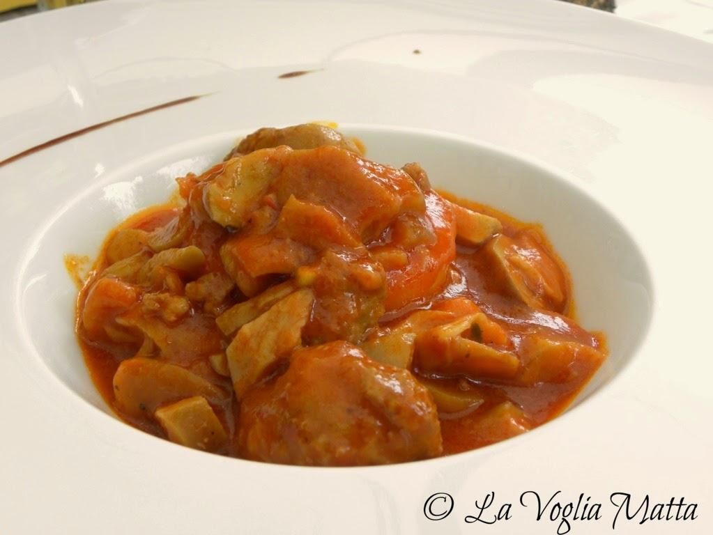 """S. Quirico Trattoria """" Al Vecchio Forno """" sformatino di polenta con salsicce e funghi"""
